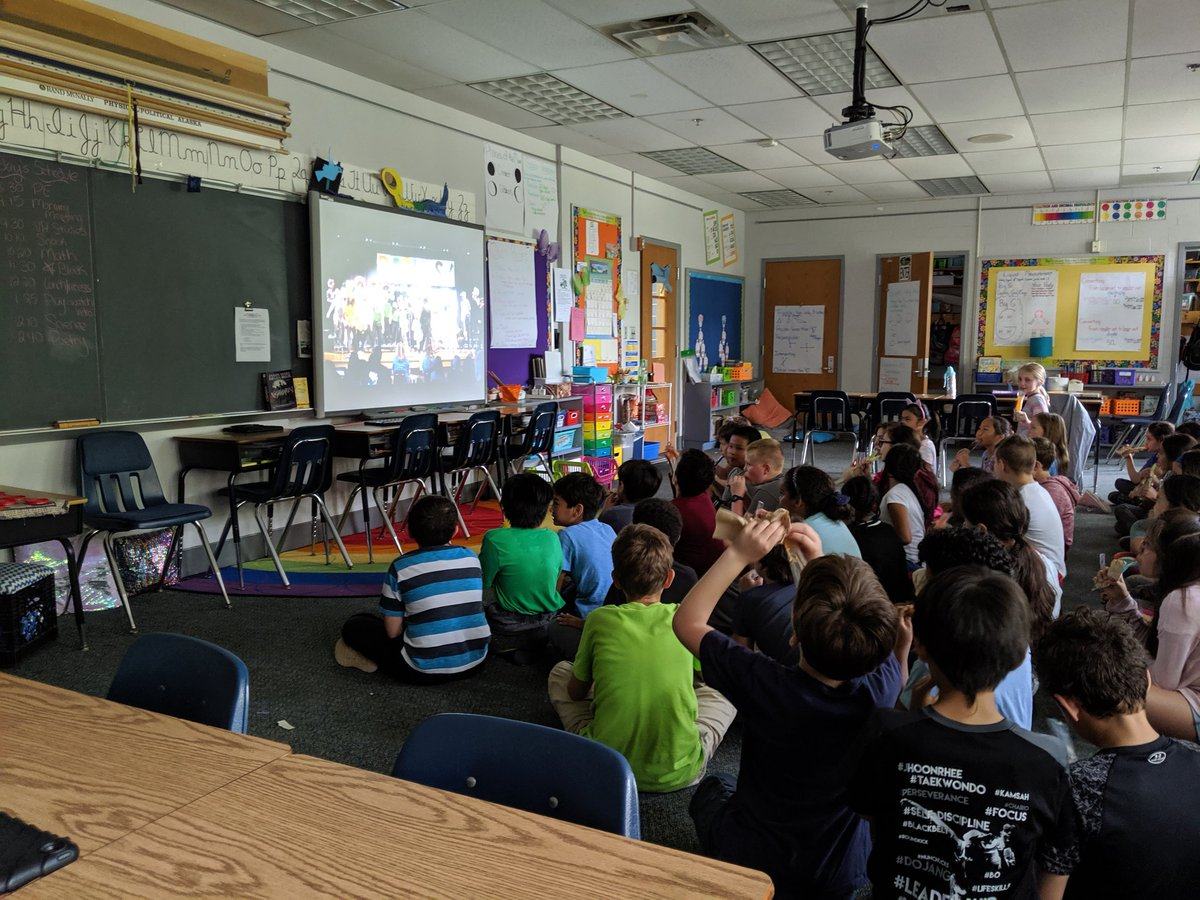Ms. Idol and Ms. Probasco's students are enjoying their play viewing party! <a target='_blank' href='http://twitter.com/APS_ATS'>@APS_ATS</a> <a target='_blank' href='https://t.co/gDhZNGrW4F'>https://t.co/gDhZNGrW4F</a>