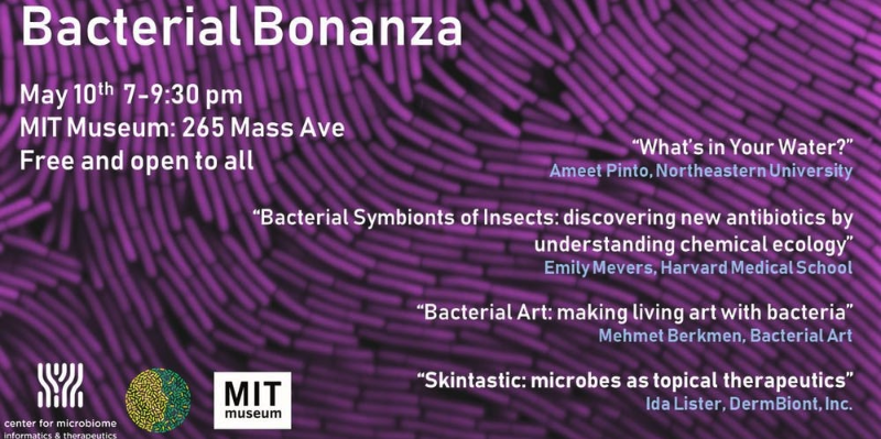 Looking for Friday night plans around #Boston? Why not spend the evening with #bacteria? Hear from @NEBiolabs resident #bioart scientist Memo Berkmen. #ScienceTwitter #ScienceFriday #SciArt