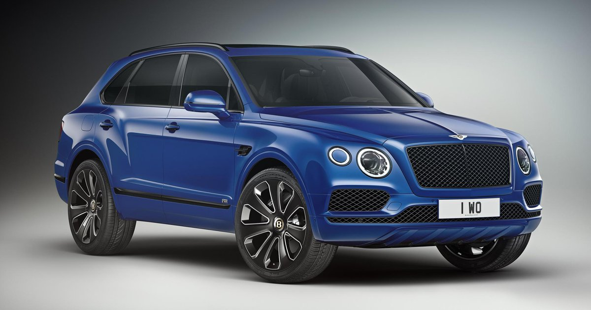 The new #Bentayga #V8 Design Series comes with sporting Blackline Specification as standard. Learn more: http://bit.ly/2J90Utf    Bentayga V8 Design Series WLTP drive cycle: fuel consumption, mpg (l/100km) – Combined 21.7 (13.0). Combined CO2 – 296 g/km.