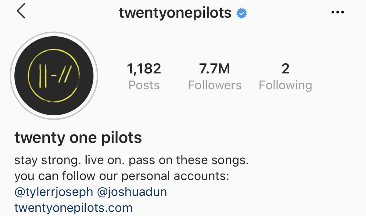 The band account hit 7 7 million followers on Instagram today Tweet