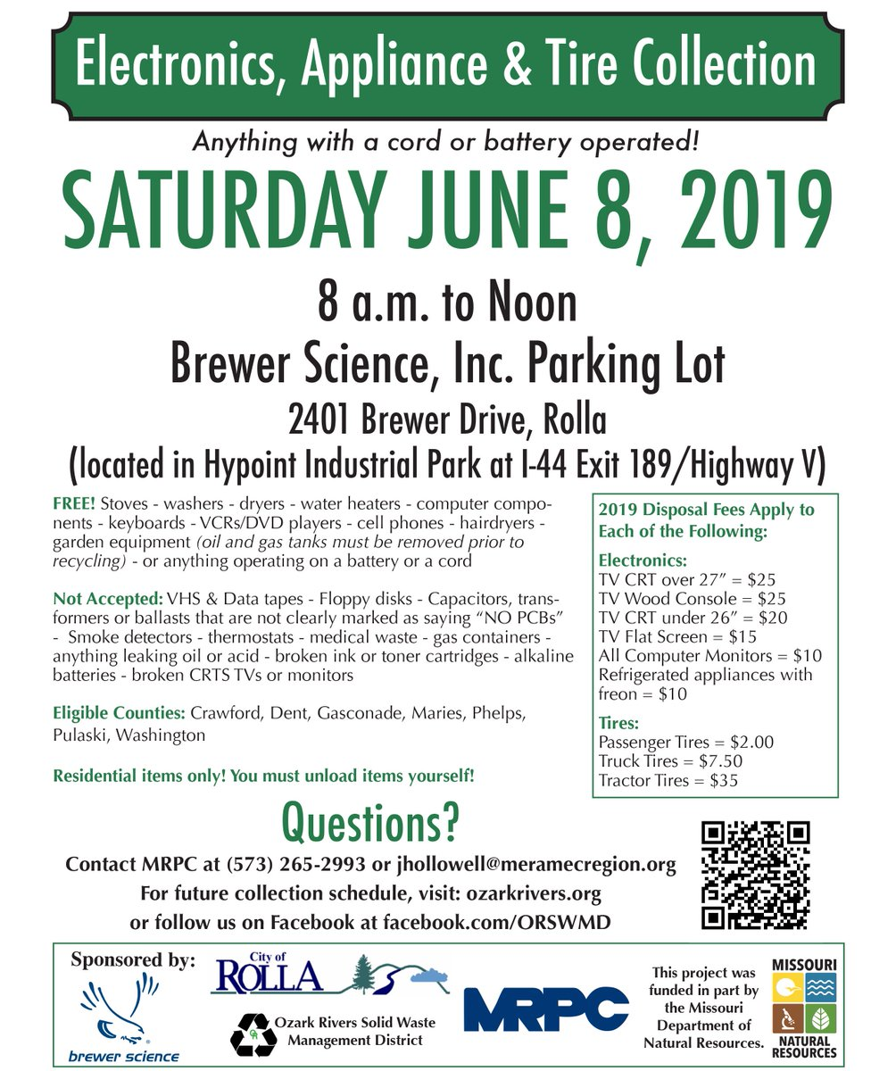 test Twitter Media - Looking to get rid of any of your electronics, appliance, or tires that are lying around? Stop by our headquarters on June 8th for our annual Electronics, Appliance, & Tire Collection. https://t.co/mwFo0f8a6d