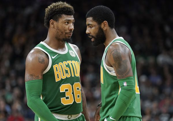 """Tom Westerholm on Twitter: """"Marcus Smart says reports that Kyrie Irving  killed the team's chemistry are """"bullshit. That's bullshit."""" """"Not one of us  on this team knows what Kyrie's been through."""" https://t.co/Oxw4SF629Q…"""
