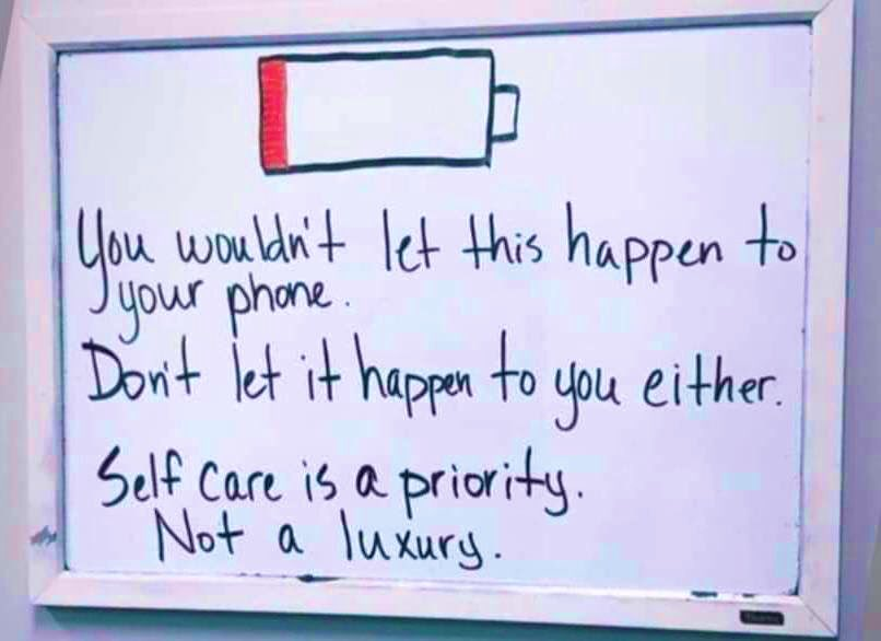 Make time to #RechargeYourBatteries. ✨ #SelfCare. 🌸