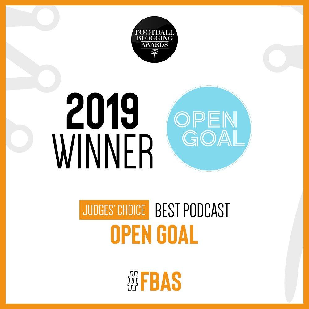 🏆 The judges' winner of the #BestPodcast is... @opengoalsport #FBAs