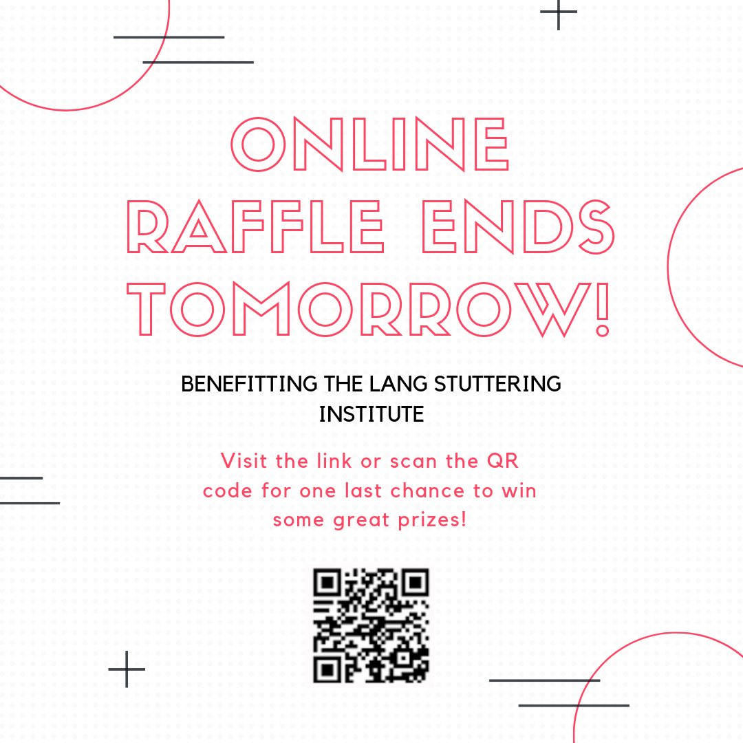 One last chance to enter the raffle before it closes tomorrow! Don't miss out on a great opportunity to support Lang and win some awesome prizes!