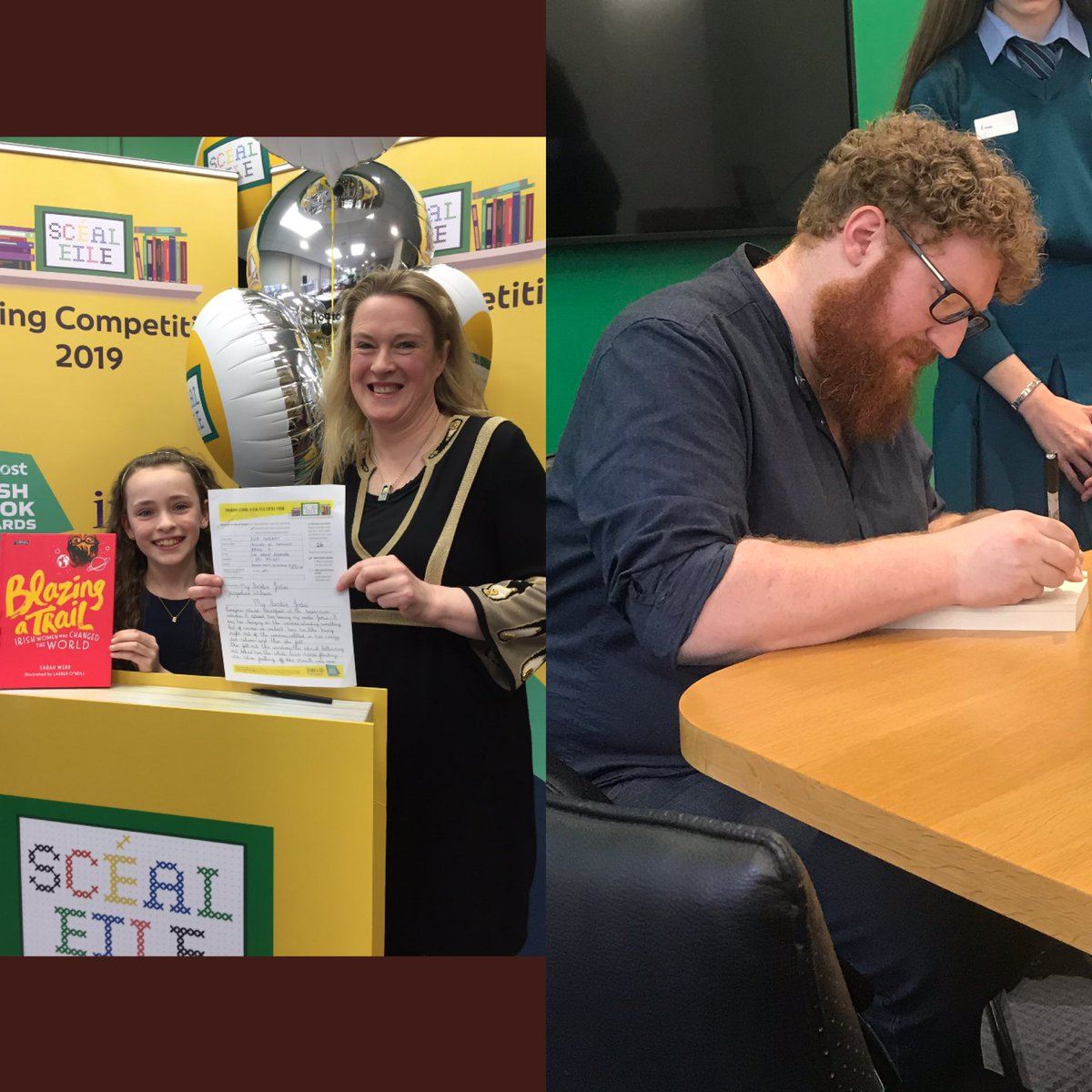2c2f03a05 Great to meet so many budding writers yesterday in the GPO. All winners in  our Schools Writing Competition  SceilEile Thanks to  sarahwebbishere and  ...