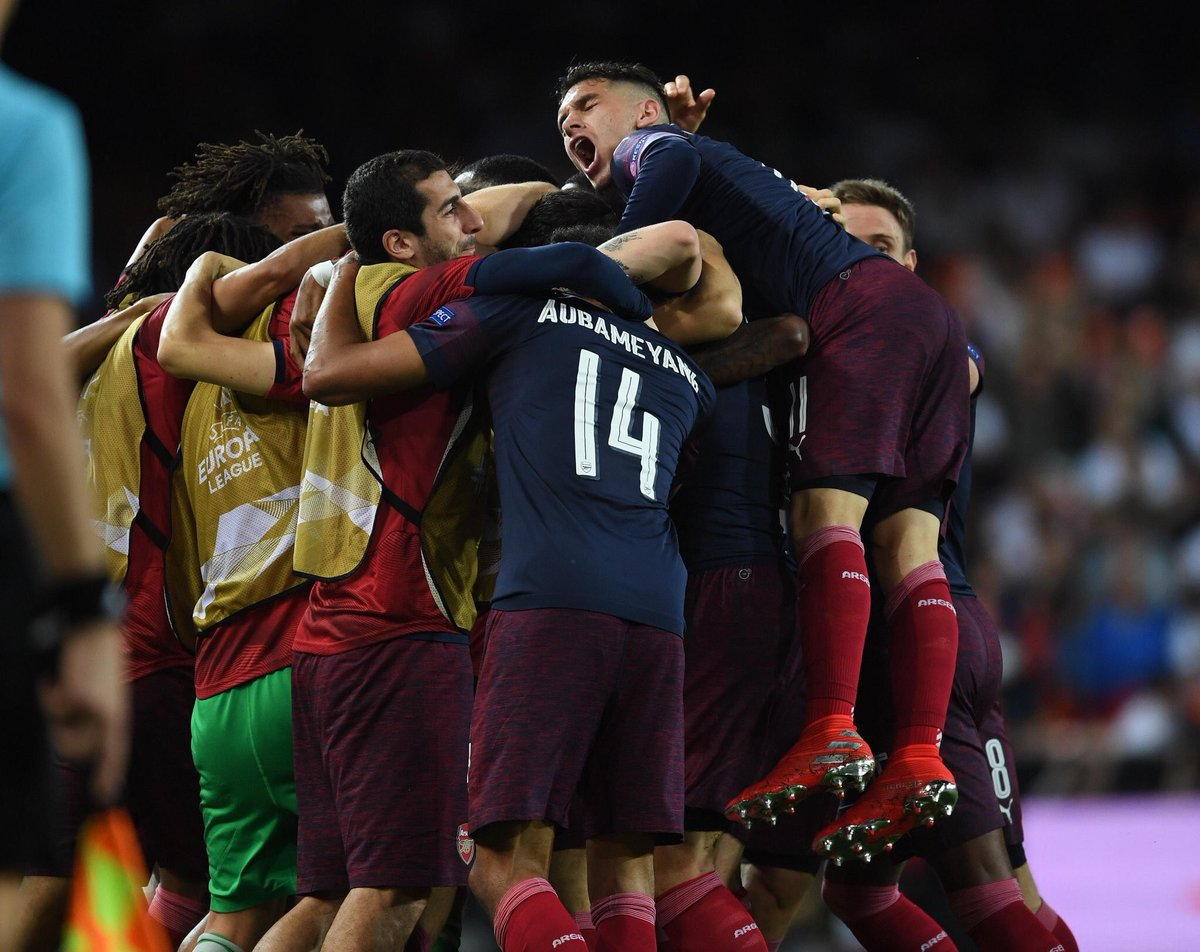 Congratulations Gunners!! We'll go to Baku to enjoy and to win it together! We are the @Arsenal !