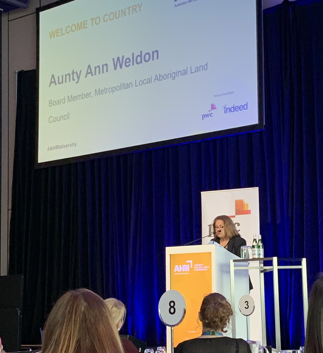 Welcome to country from Aunty Ann Weldon. 'Our culture is one of truth telling and spirituality- I invite you to walk beside us - not in front of us - to be a Champion for Change - Welcome to Gaddigal Country  #AHRIDiversity #Alwayswas #AlwaysWillBe