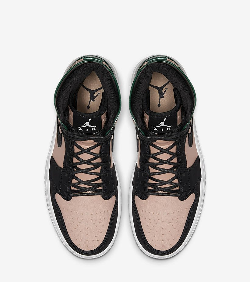 72fbf1068 Ad  NEW Women s Air Jordan 1 Retro High Premium  Black Tan Green  dropped  via Shoe Palace    http   bit.ly 2PSMm18 pic.twitter.com 12fJ1Y63CV