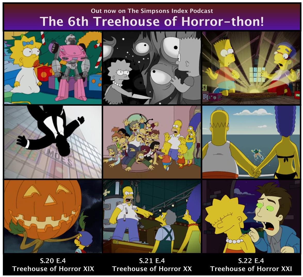 The 6th Treehouse Of Horror-thon podcast out now at Tweet added by