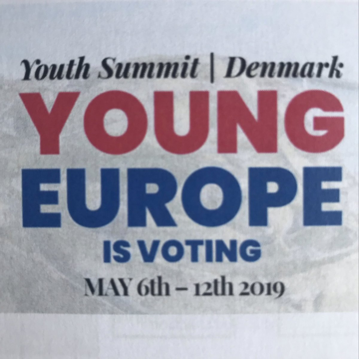 Voting is power! Looking forward to youth summit #YoungFuture @YoungEuVote at #YouthIsland Copenhagen #FutureOfEurope
