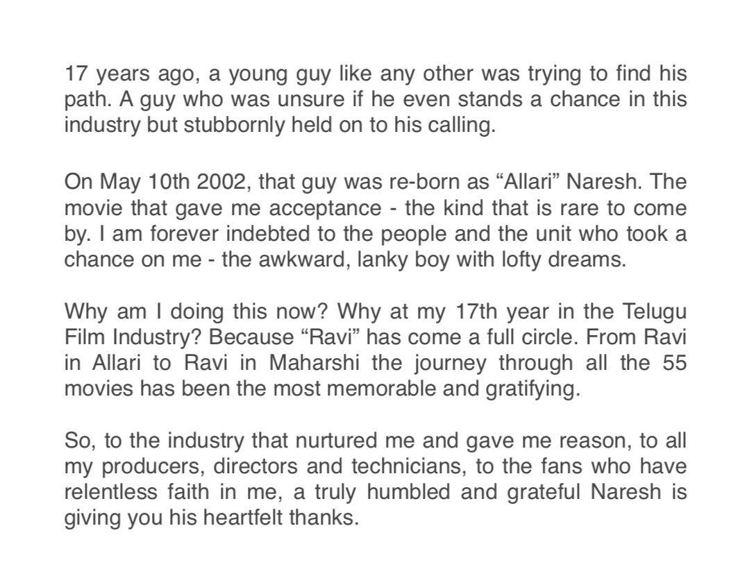 Allari Naresh (@allarinaresh) | Twitter