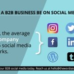 Image for the Tweet beginning: For most #B2B companies, #socialmedia