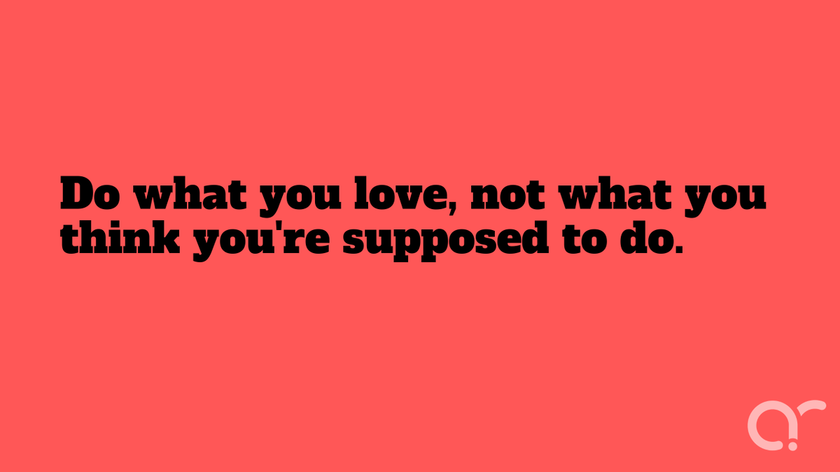 """test Twitter Media - """"Do what you love, not what you think you're supposed to do.""""#Quote #Work #Passion #Love #FindYourPassion #FindYourLove #DoWhatYouLove #Friday #FridayMotivation #FridayMotivation #FridayThoughts https://t.co/C1LGKJJ4Dn"""