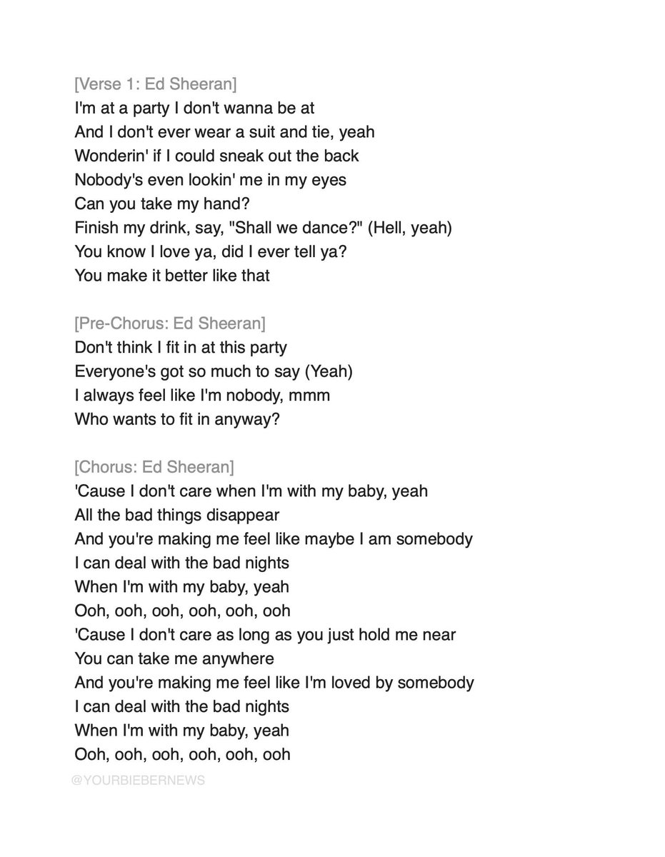 Bieber News On Twitter I Dont Care Lyrics Justin