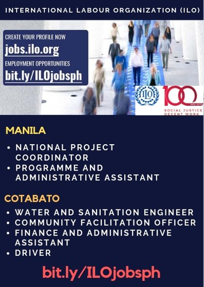Join Us In Advancing Social Justice And Promoting Decent Work Apply Online At Jobsiloorg Or Check Out Current Employment Opportunities Manila