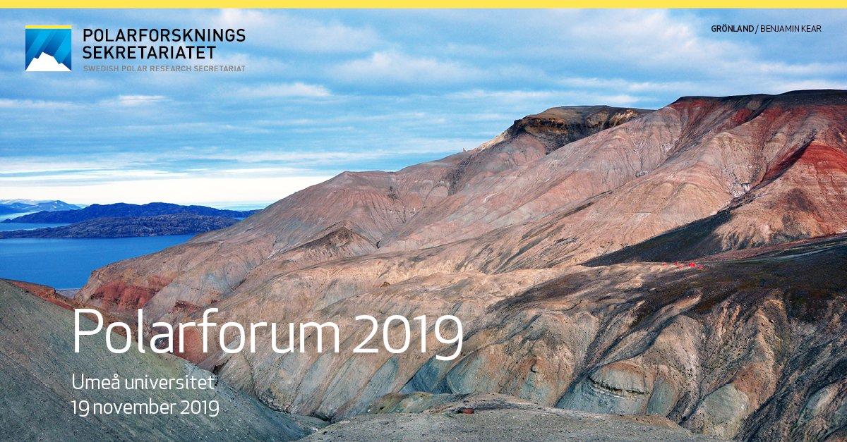Save the date! Den 19 november hålls nästa #Polarforum på @UmeaUniversity Välkommen till en tvärvetenskaplig konferens där svensk @polarforskning och andra aktörer kan mötas!