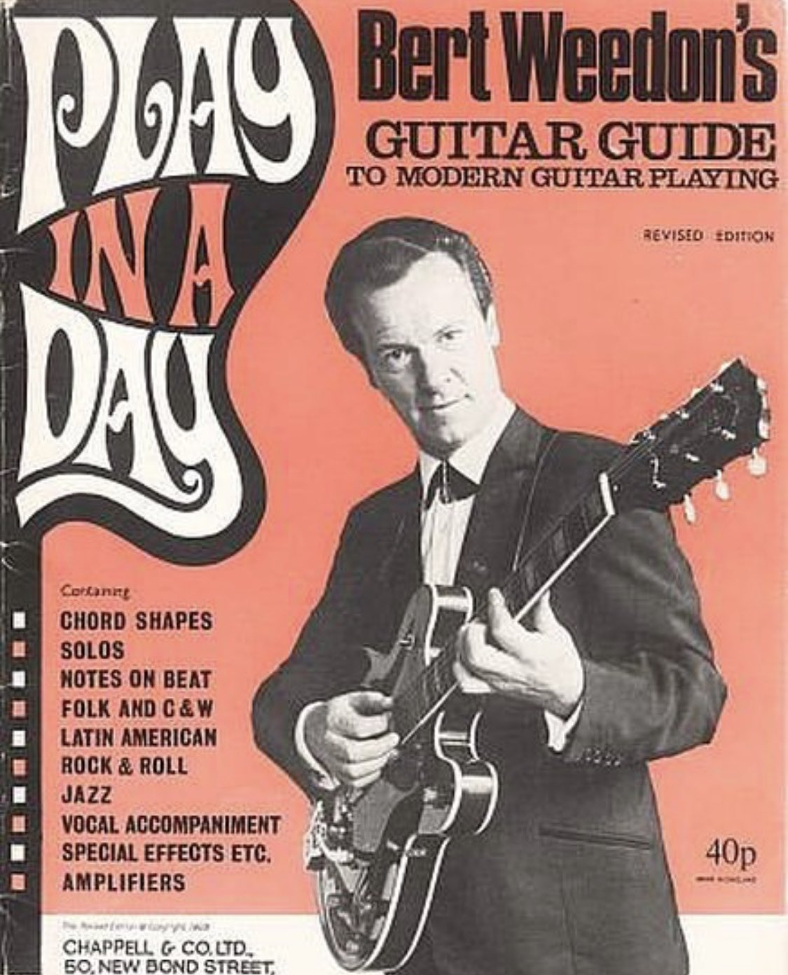 "Gary Kemp on Twitter: ""Birthday thoughts and thanks to Bert Weedon. This is  the book that my parents bought me for Christmas 1971 to accompany the  surprise present of a guitar. It"