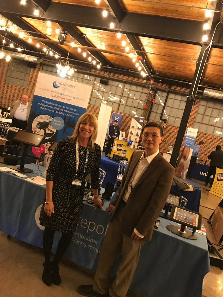 test Twitter Media - Thank you @BlueStarCan  for having us at your IST Toronto event. We had a blast engaging with reps. @MickiRiecke and @Kevin_Y_Chen had a little photo shoot modeling #SpacePole mounting and mobility products #FridayThoughts https://t.co/g0NCK3y9uZ