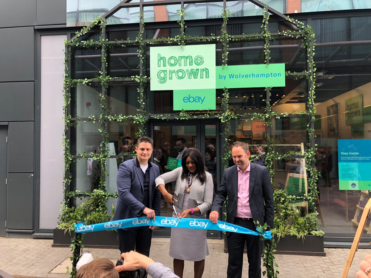 Our first UK pop-up store is officially open! #Wolverhampton MP @Eleanor_SmithMP did the honours, alongside @eBay_UK VP Rob Hattrell. Rob said the #RetailRevival programme is working, and we are determined to get more out of it! #InvestWolves