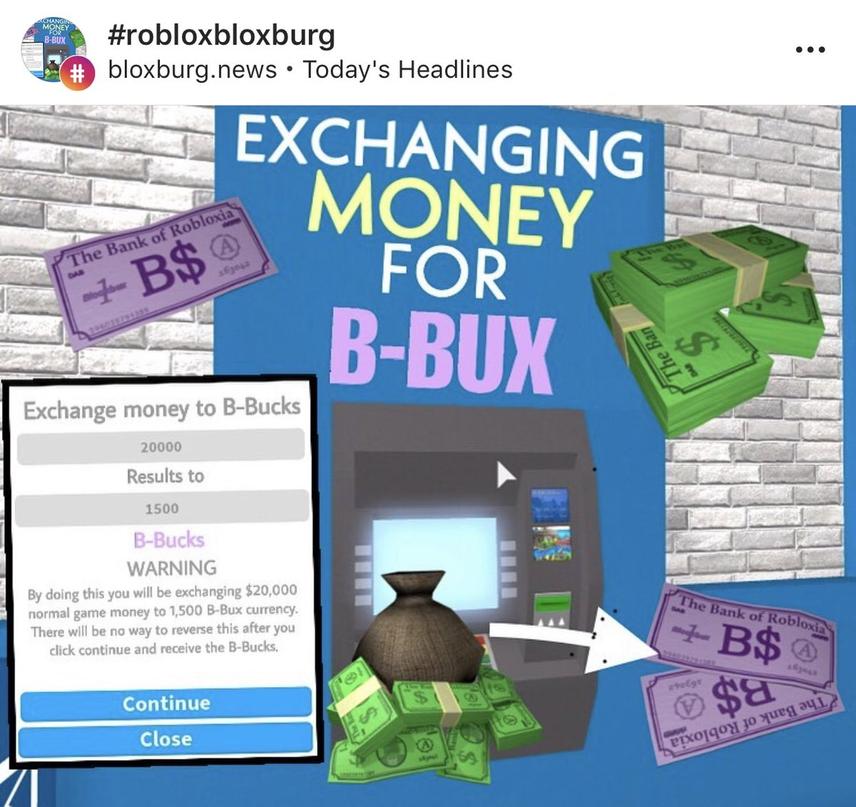Everything Bloxburg On Twitter Bloxbux Is Meant To Be A Paid
