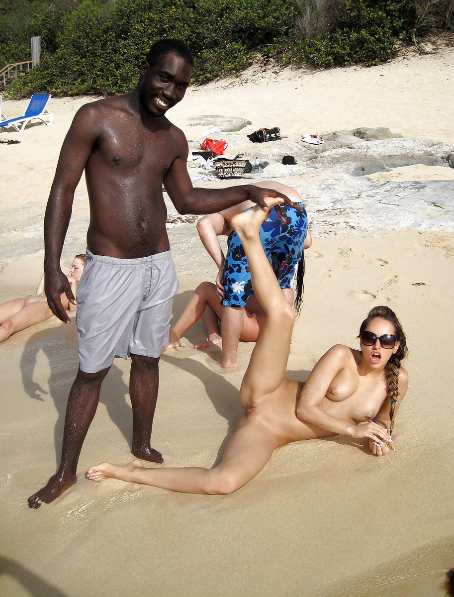 Black and white sex on the beach, black women nude squriting