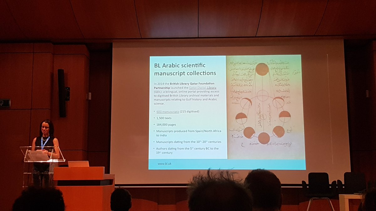And now @BL_AdiKS on QDL & the BL's work on its Arabic manuscripts, including transcription work #DATeCH2019