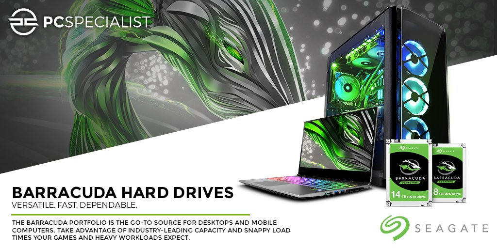 new products a1abc ff2fe The  Seagate Barracuda portfolio is the go-to source for desktops and  mobile computers. Configure and power your next  PCSpecialist PC with a  Seagate HDD or ...