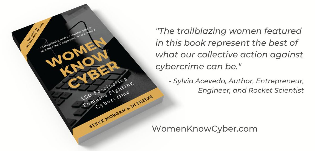 "New #Cybersecurity Book ""WOMEN KNOW CYBER: 100 Fascinating Females Fighting #Cybercrime"" - Foreword by @SylviaAcevedo, Author, Entrepreneur, Engineer, Rocket Scientist. Download a free copy of the eBook at http://WomenKnowCyber.com . Coming to @Amazon soon. Follow us @WomenKnowCyber"