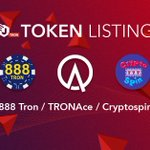 Image for the Tweet beginning: 📢📢TRC token listing: $888 by