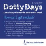 Did you know we have a Lewy body dementia awareness week? #DottyDays runs from 1-8 June this year and there are lots of ways you can get involved and show your support for #LBD research