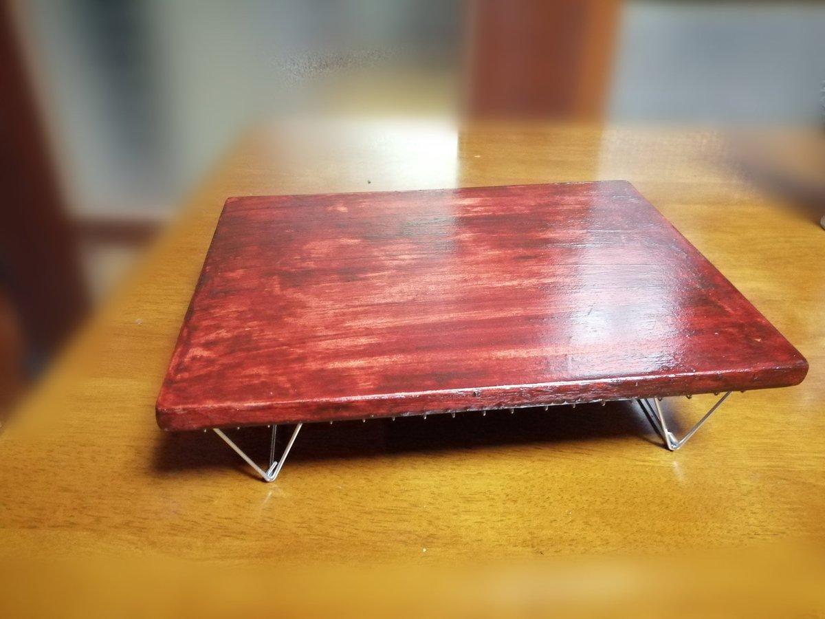 test ツイッターメディア - 廃材が出たので100均の焼き網グリルでテーブルを作ってみました。 焼き網だけでも軽量テーブルとしてなかなか使えます。#100均 #セリア      #ダイソー #キャンプ #DIY #キャンプツーリング https://t.co/EPZbNje2dH