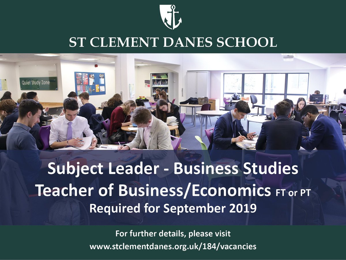 Fantastic opportunities to inspire our students within the Business/Economics team at our 'World Class' school. Details: https://t.co/mq8Ph1ejrC  #teachingvacancyuk https://t.co/wNqukC17Xu