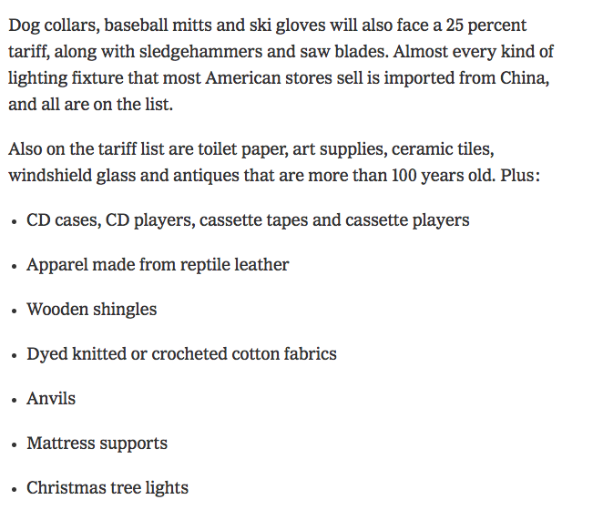 7ab192e1a3ac ... the China tariffs will come on things we needed in the 1950s- 90s.  https   www.nytimes.com 2019 05 10 business china-tariffs-list.html …pic. twitter.com  ...