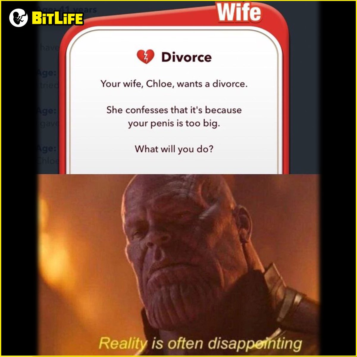 💔 Here's another look into Thanos' BitLife that we've been