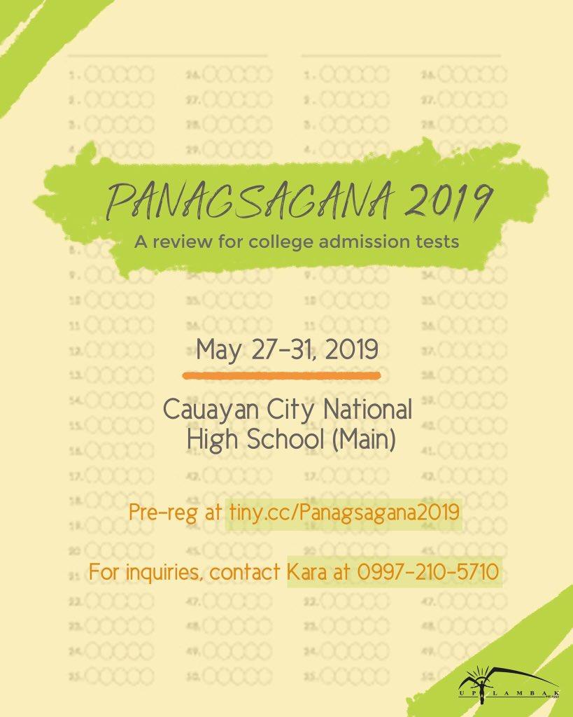 Up Lambak On Twitter Up Lambak Brings You Panagsagana 2019 Panagsagana Is A Week Long Series Of Reviews And Workshops That Focus On Enhancing The Skills And Proficiency Of Incoming Grade 12 Students