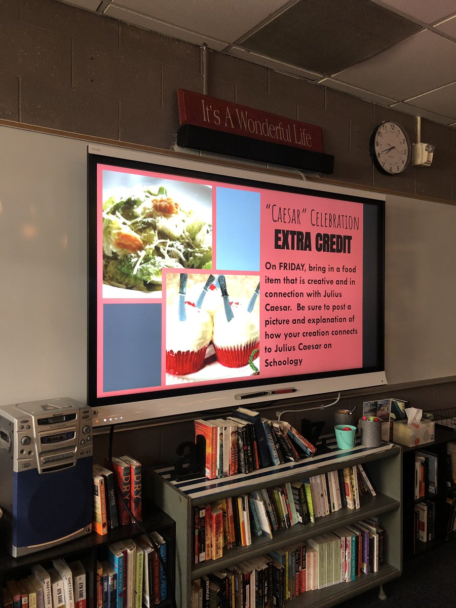 10LC Caesar Celebration and learning how music can be analyzed for rhetoric and alter the mood of a scene #caesarsalad #ettubrutus #bewaretheidesofmarch #room240