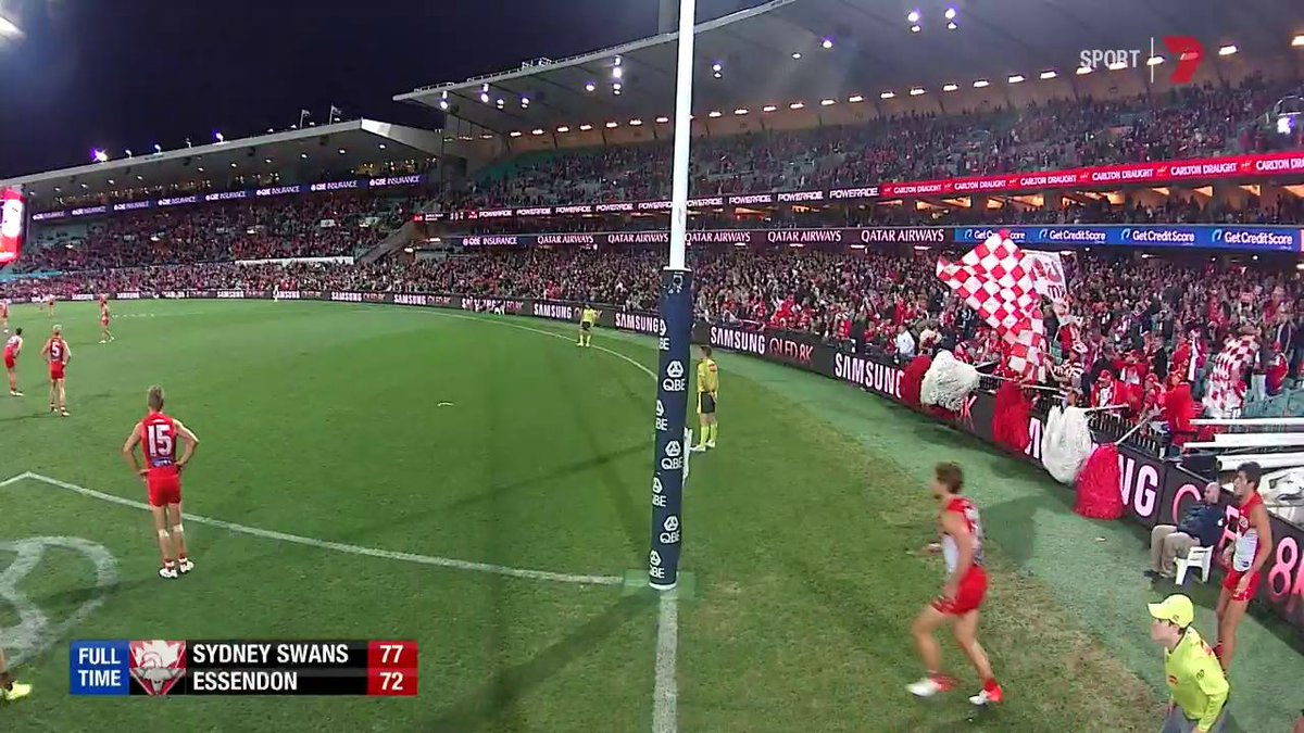 The umpires may have missed this Dane Rampe infringement after the game.   #AFLSwansDons