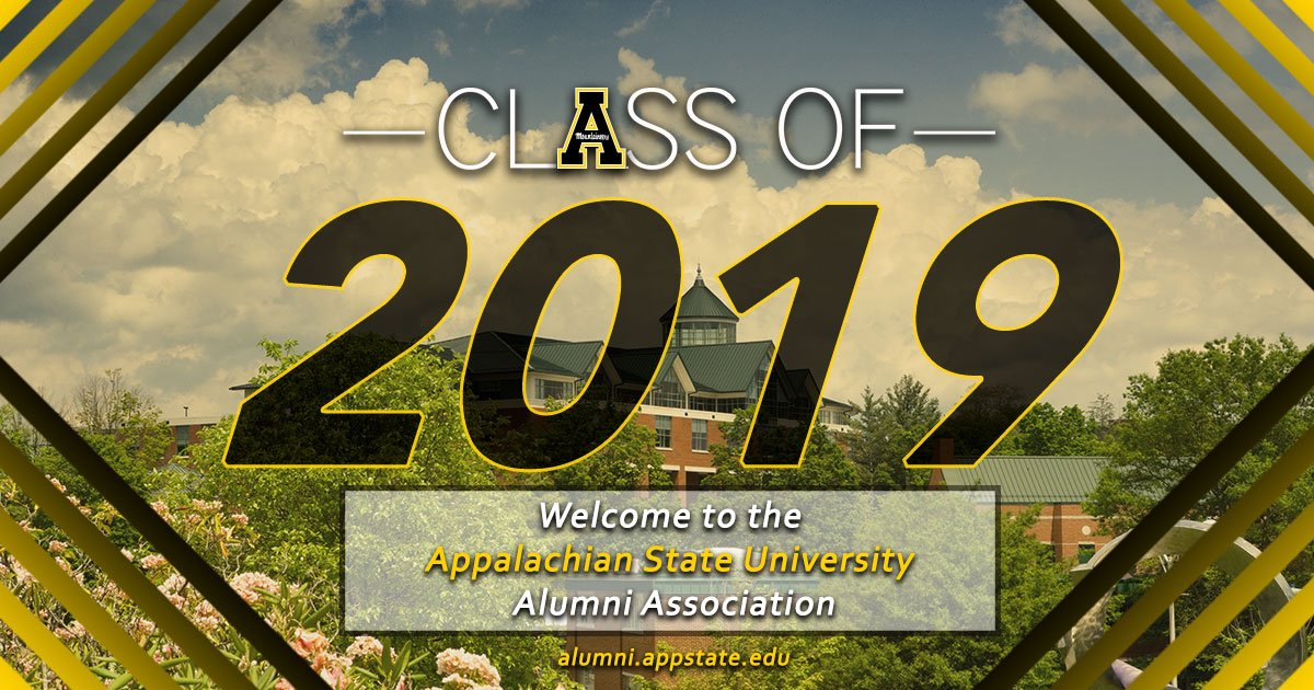 6d8f8cda7fe4e Congratulations to  AppState graduating class of 2019