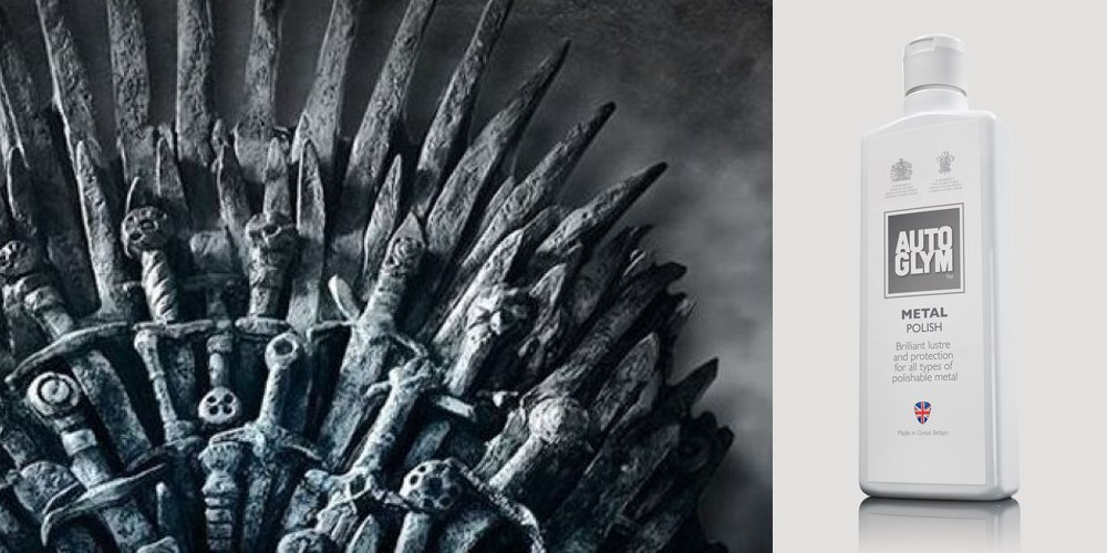 Before you absorb some #GameofThrones action this evening, make sure you're sitting comfortably! Click here to see how - https://www.autoglym.com/blog/2019/04/12/how-to-clean-your-iron-throne/ …