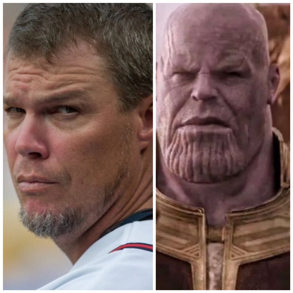 ENDGAME: Wow! Incredible Movie. I don't want to SPOIL IT for anybody but Chipper Jones plays Thanos! #ChopOn
