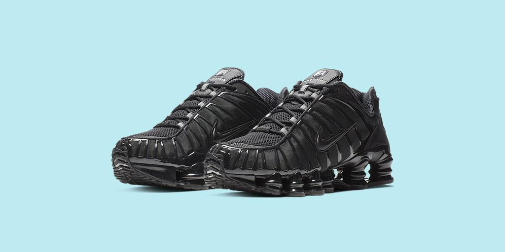 buy popular 71a37 64113 back in true form the nike sportswear shox tl shop triple black