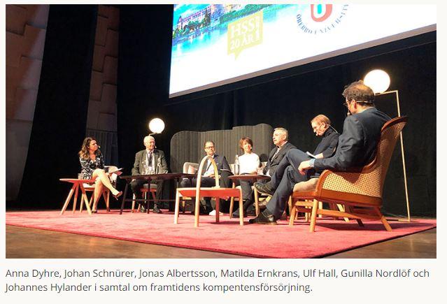 """Matilda Ernkrans under #HSS2019: """"Livslångt lärande allt viktigare uppgift för lärosäten""""."""