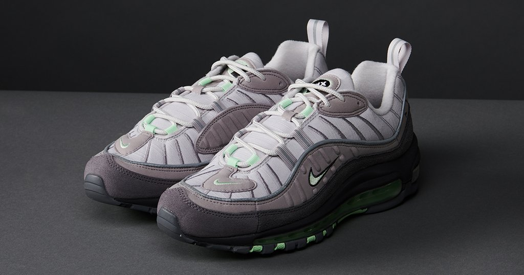 "547ac7dc1 The Nike Air Max 98 ""Fresh Mint"" is available now in grade school sizes"