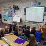 Image for the Tweet beginning: First grade skyped with Marine