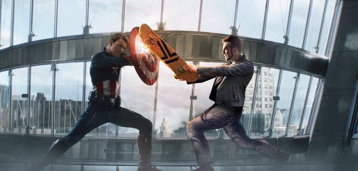 One of my favourite scenes in #AvengersEndgame @ChrisEvans