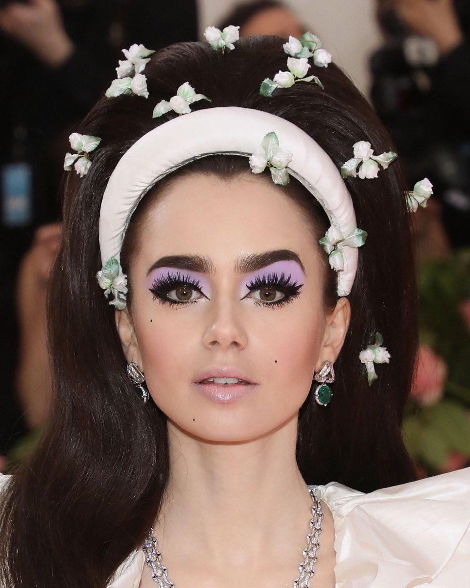 Risultati immagini per lily collins met gala 2019