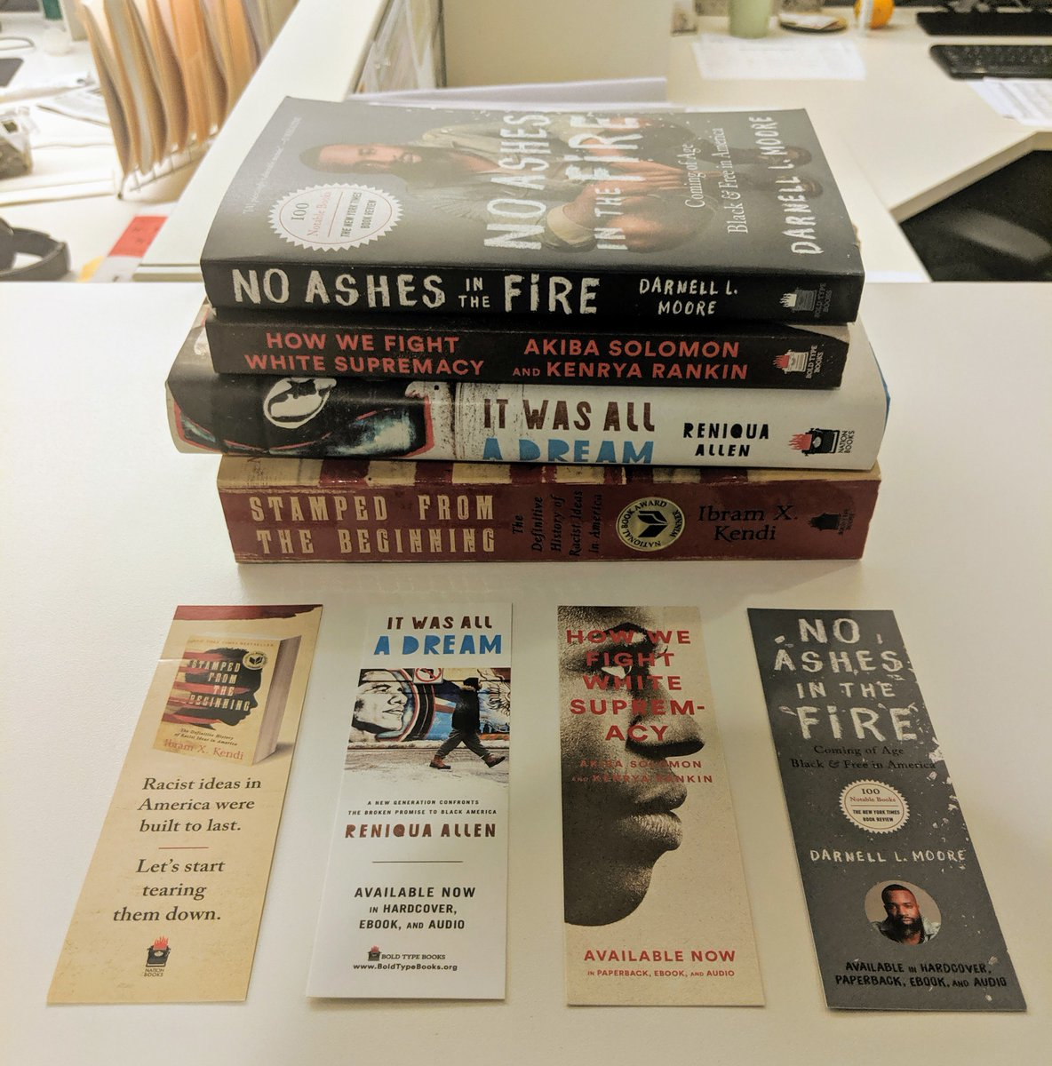 How many of these are in your collection?.Check them all out on our site: http://www.BoldTypeBooks.org .#Books #Publishing #Reading #Bookmarks #ChallengePower @TypeMediaCenter