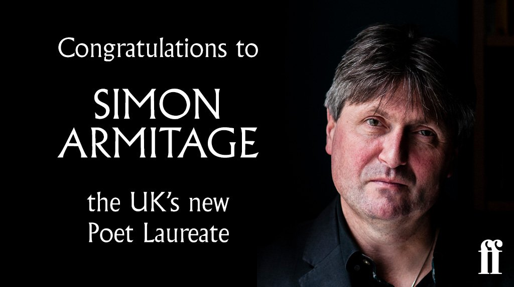We are thrilled that Simon Armitage has been announced as the UK's new #PoetLaureate
