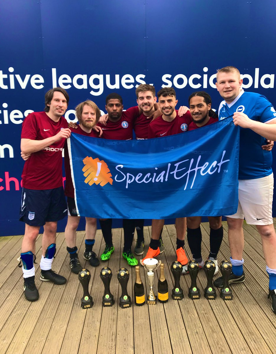 Congratulations to @SI_games for winning the @SpecialEffect Wembley 5's for the 3rd time in 8 years ⚽️⚽️   Thank you to all of the teams for another great day!